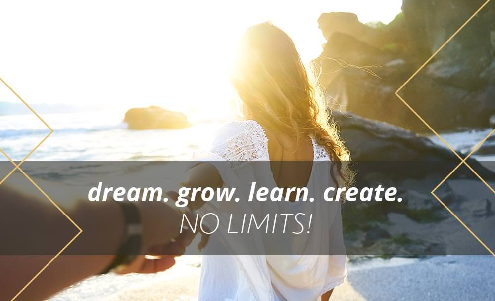 Dream grow learn create no limits - Simply One Question - One Q